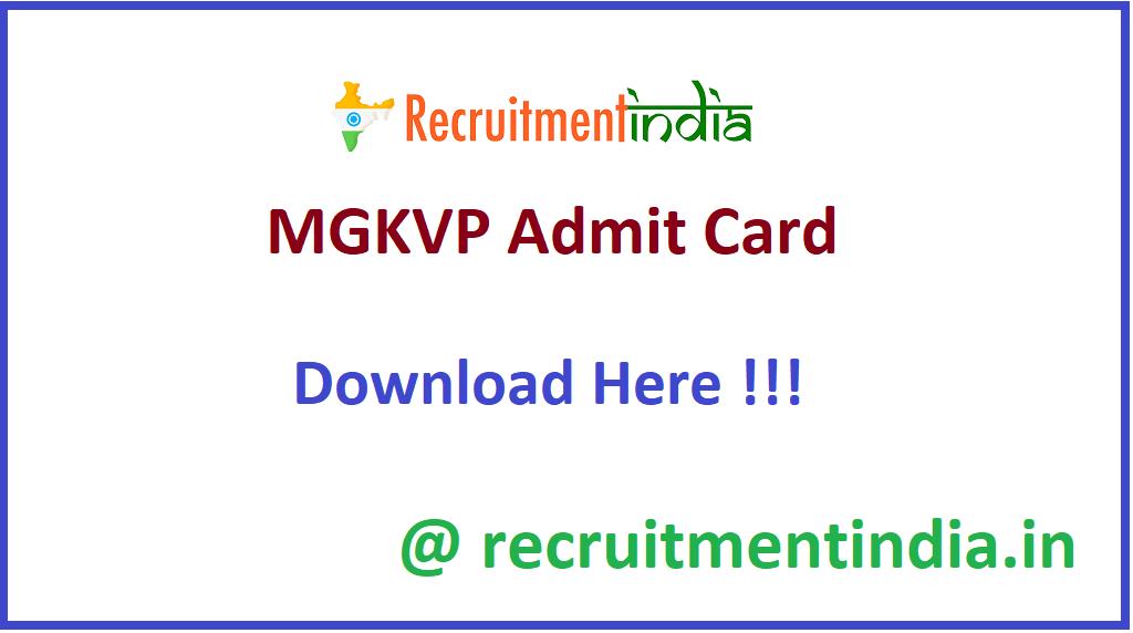 MGKVP Admit Card