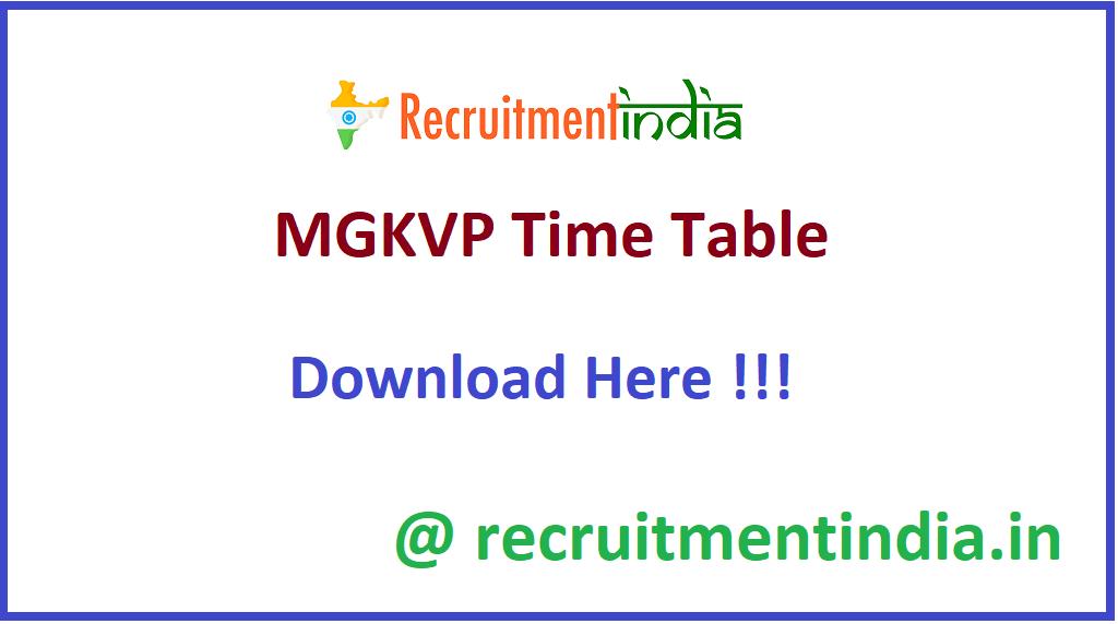 MGKVP Time Table
