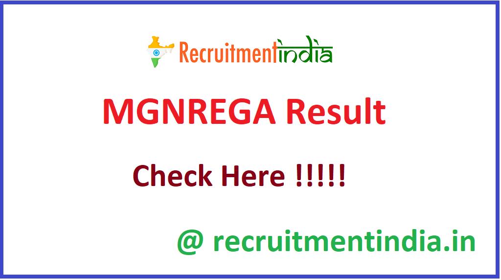 MGNREGA Result