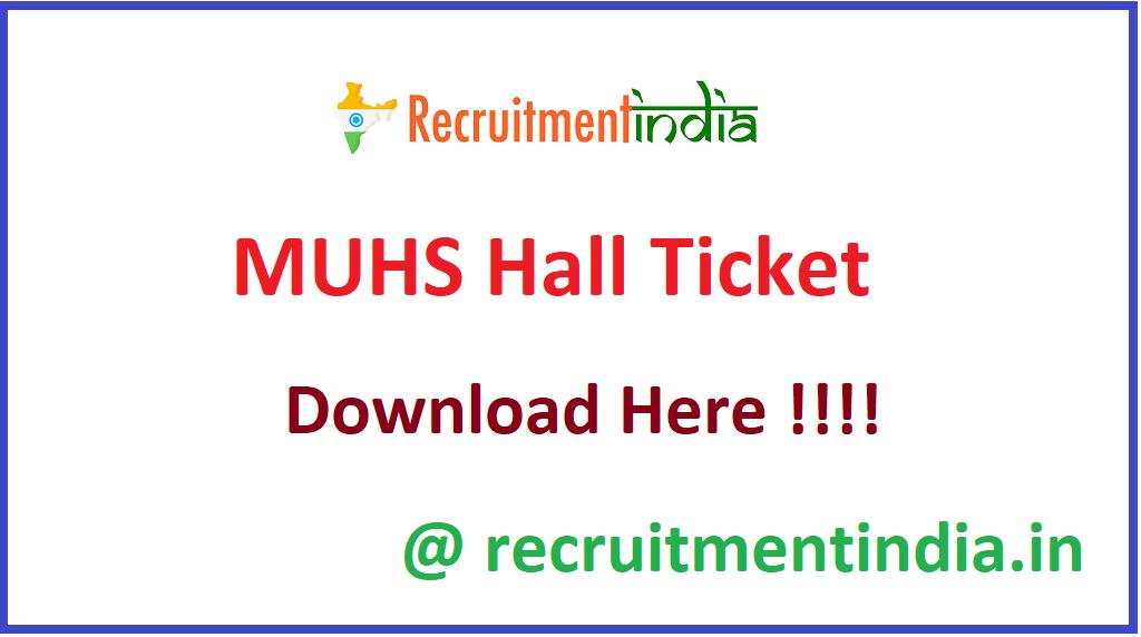 MUHS Hall Ticket
