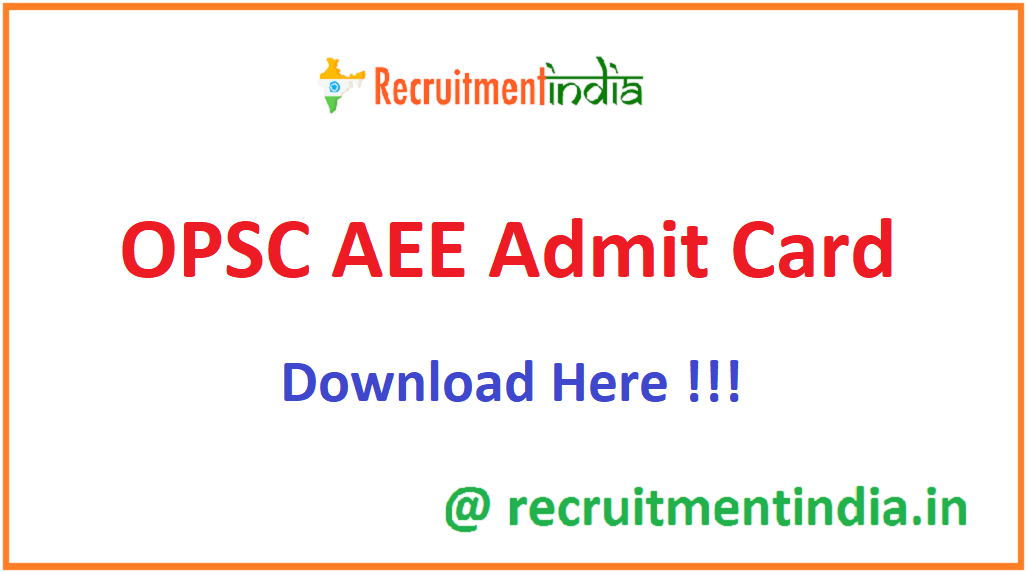 OPSC AEE Admit Card
