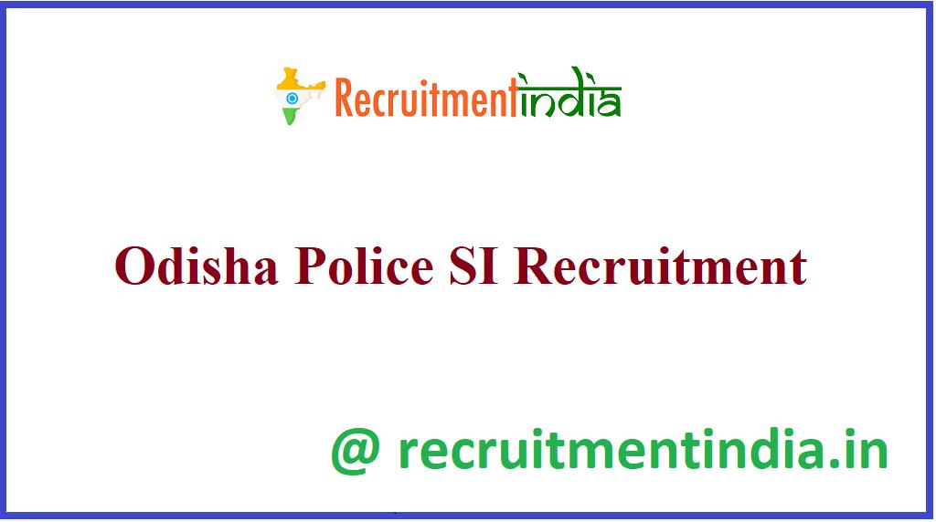 Odisha Police SI Recruitment