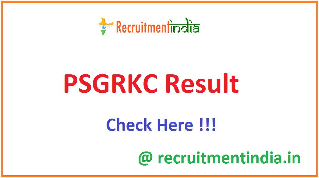 PSGRKC Result