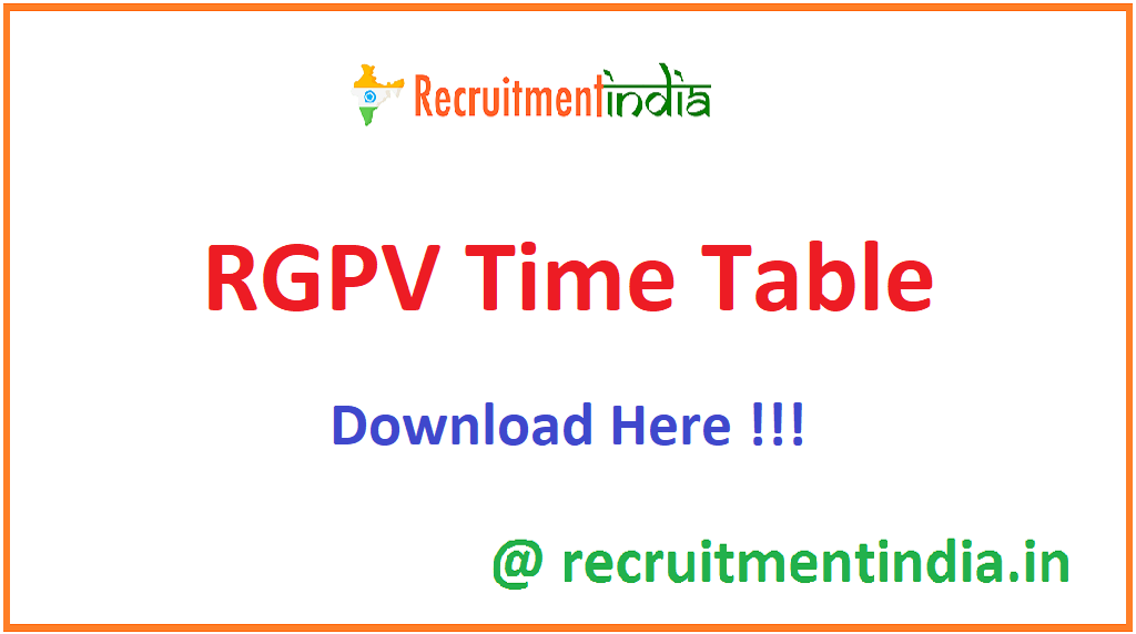 RGPV Time Table