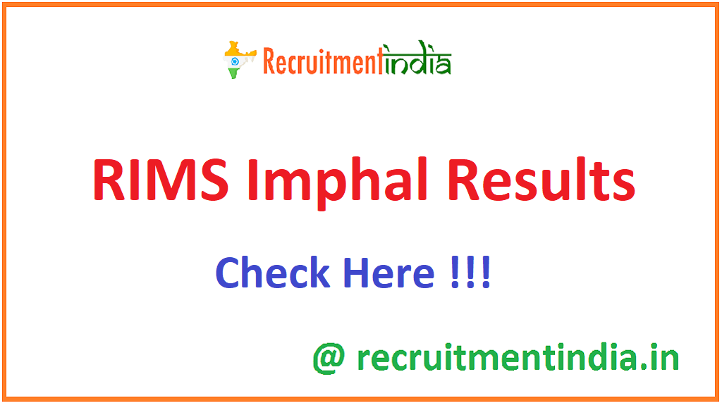 RIMS Imphal Results