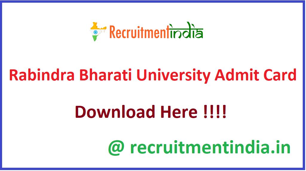 Rabindra Bharati University Admit Card
