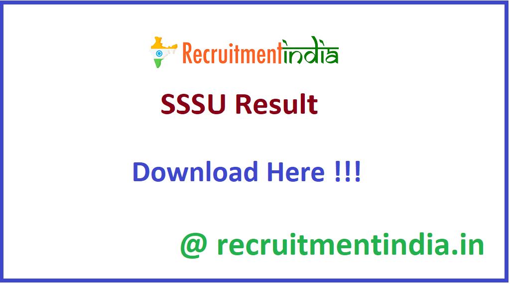 SSSU Result
