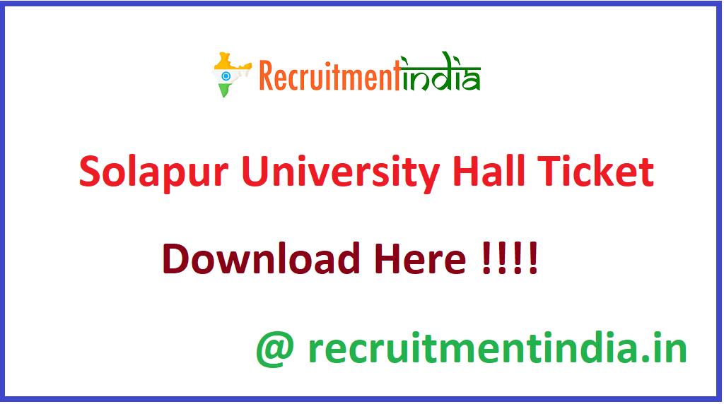 Solapur University Hall Ticket