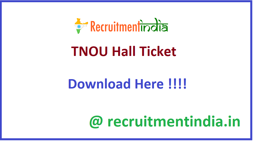 TNOU Hall Ticket