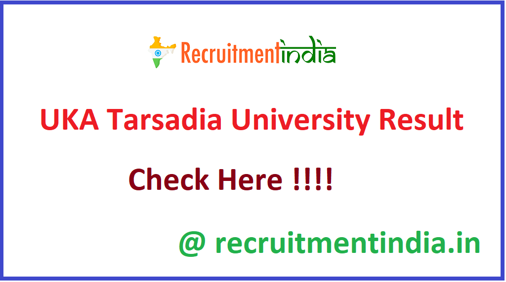 UKA Tarsadia University Result