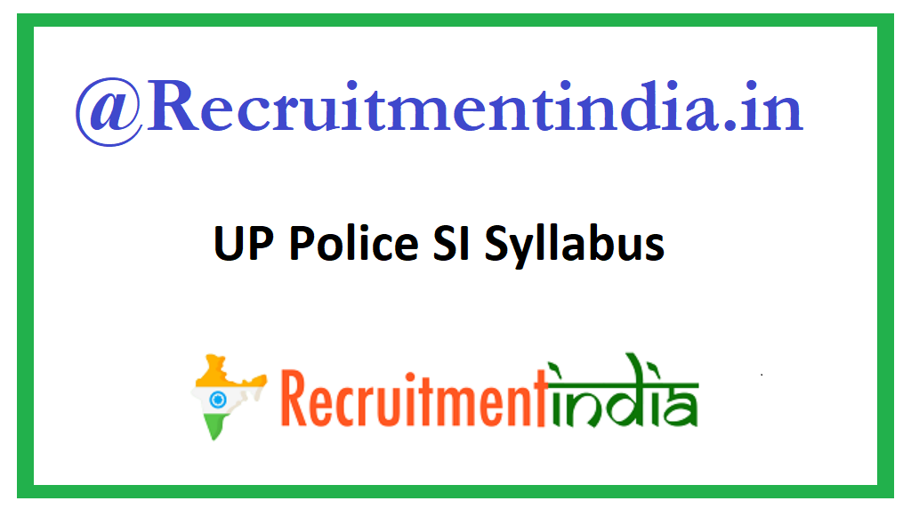 UP Police SI Syllabus
