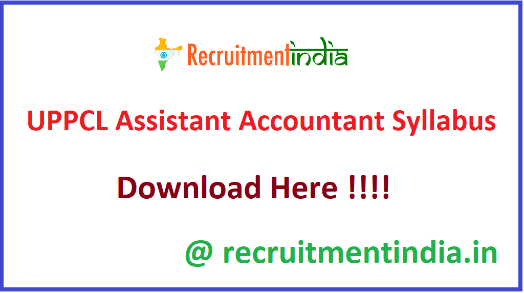 UPPCL Assistant Accountant Syllabus