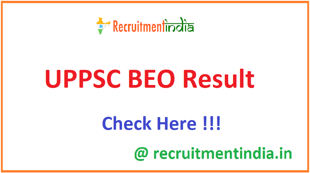 UPPSC BEO Result
