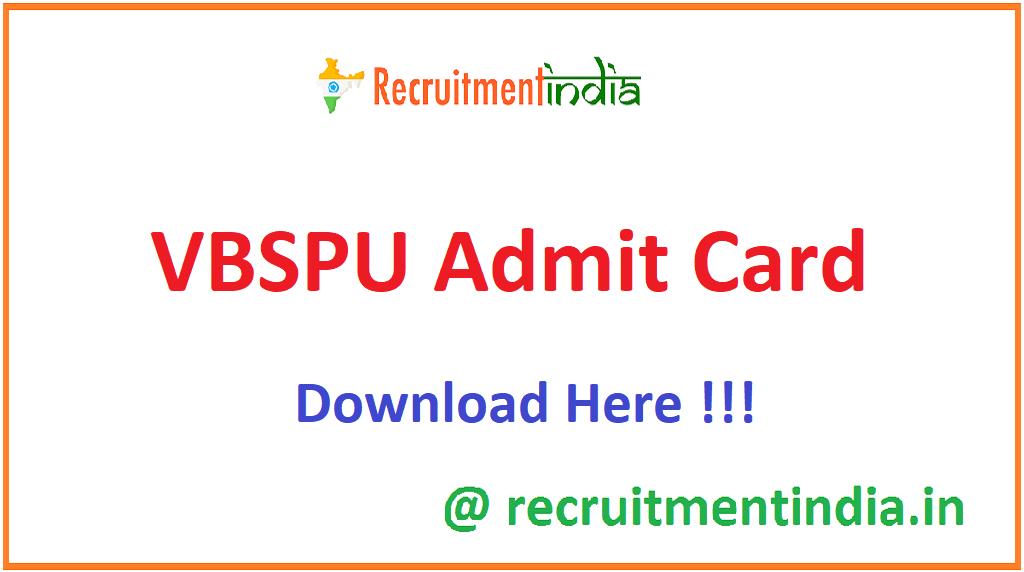 VBSPU Admit Card