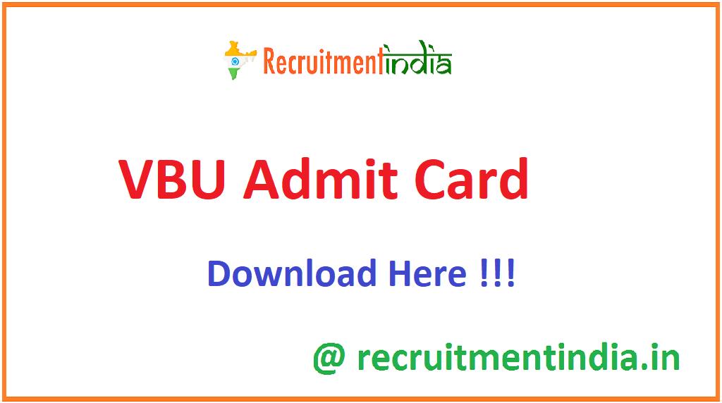 VBU Admit Card