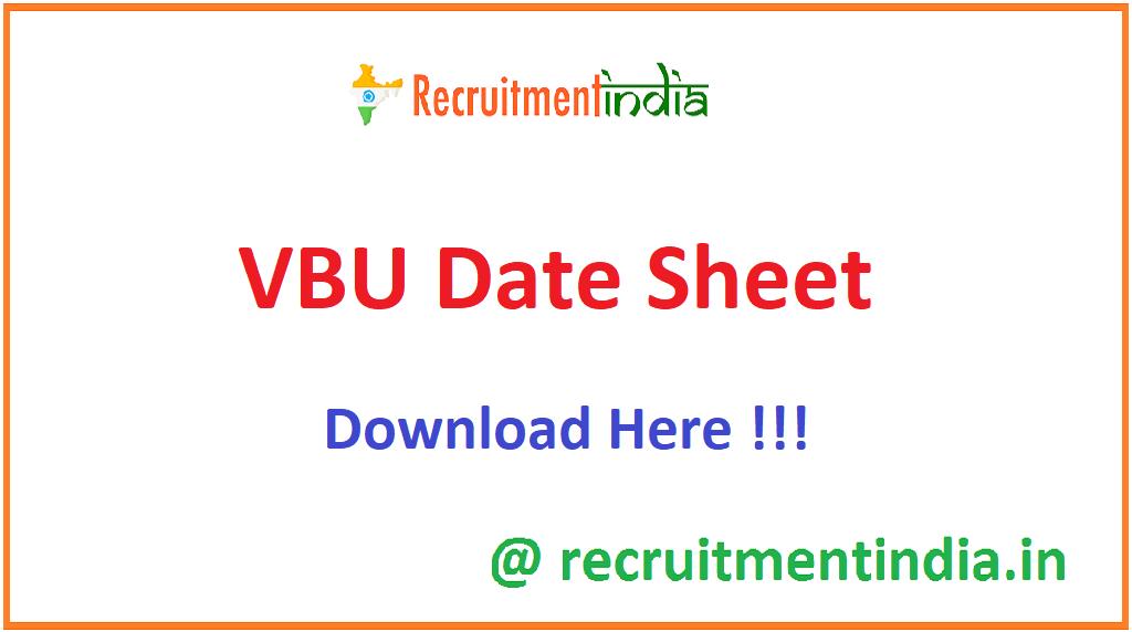 VBU Date Sheet