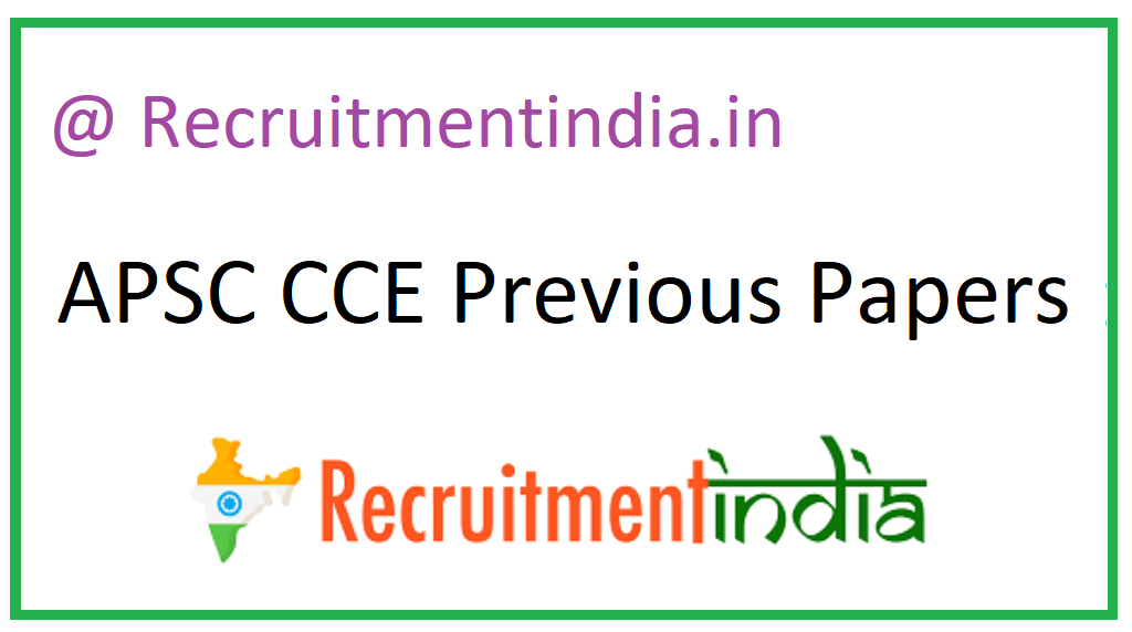 APSC CCE Previous Papers
