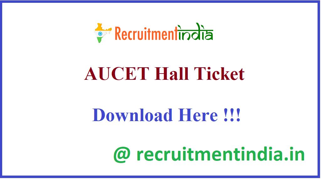 AUCET Hall Ticket