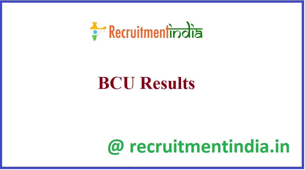 BCU Results