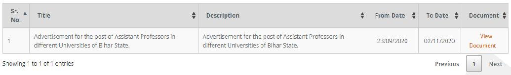 BSUSC Bihar Assistant Professor Recruitment