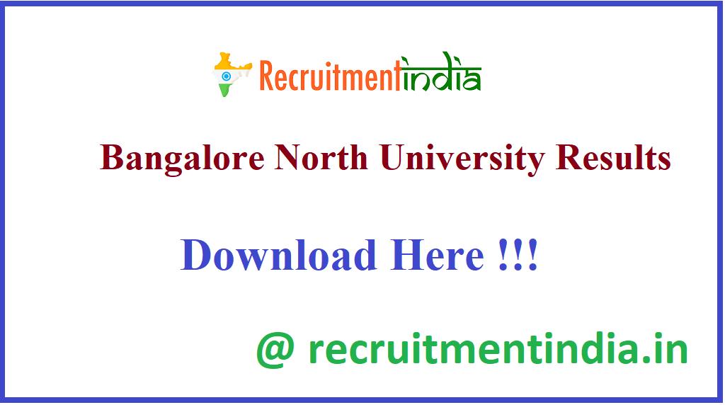 Bangalore North University Results