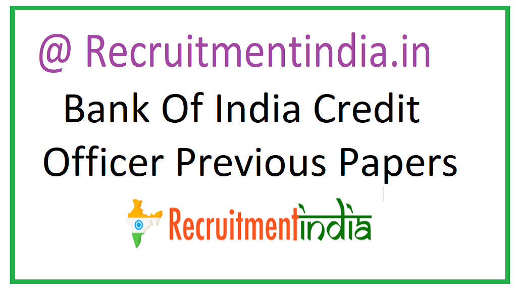 Bank Of India Credit Officer Previous Papers