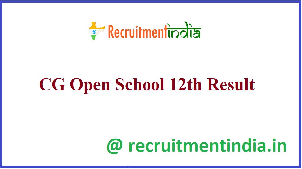 CG Open School 12th Result