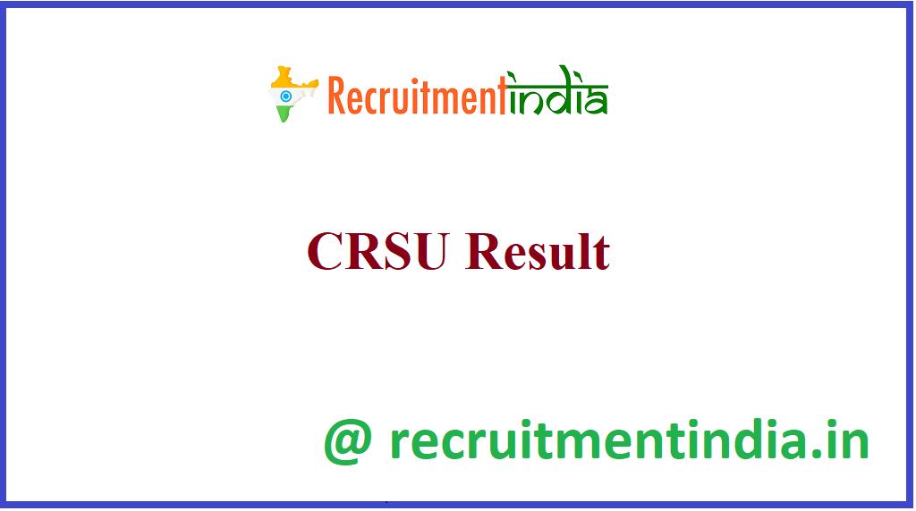 CRSU Result