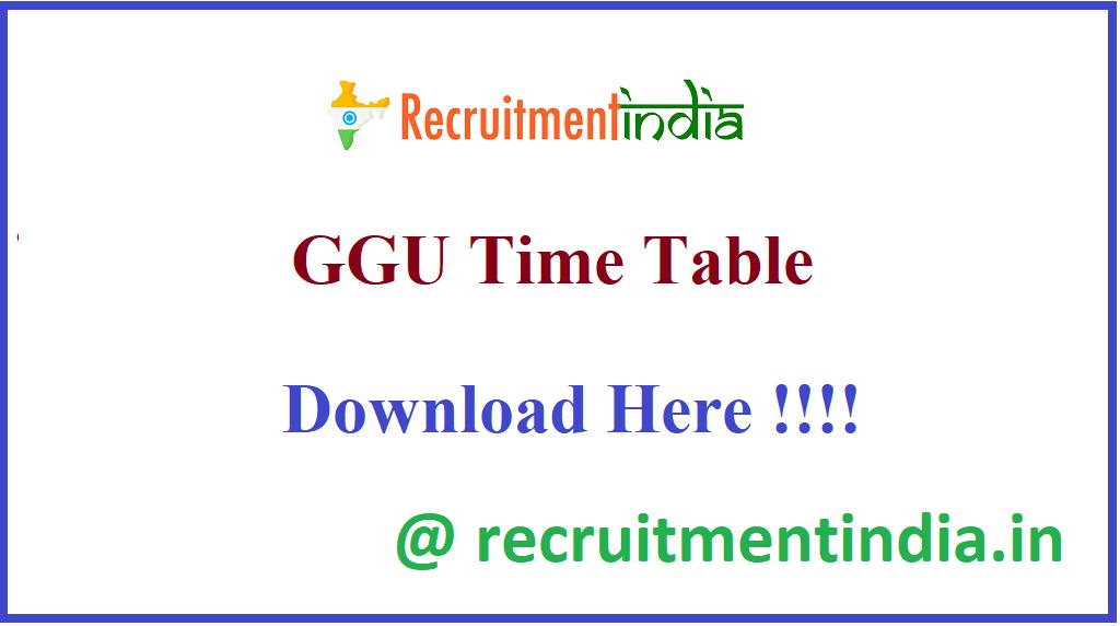 GGU Time Table