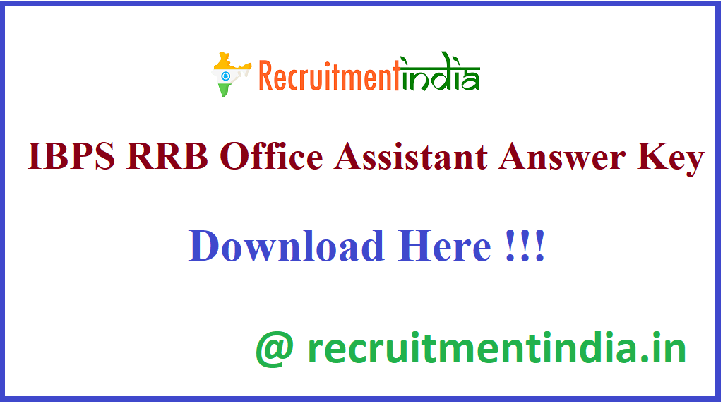 IBPS RRB Office Assistant Answer Key