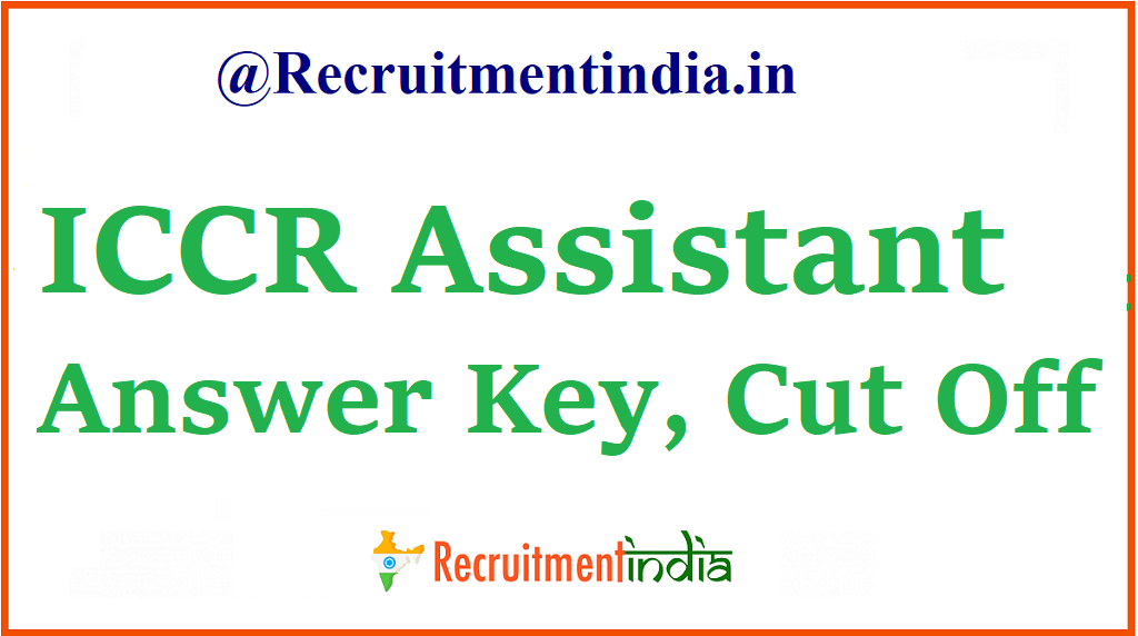 ICCR Assistant Answer Key