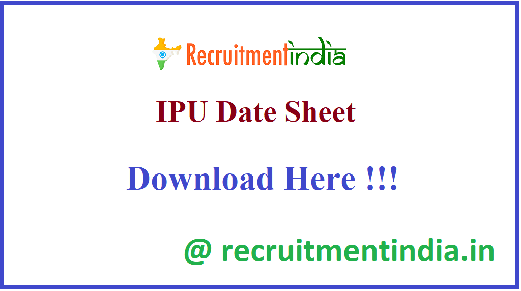 IPU Date Sheet