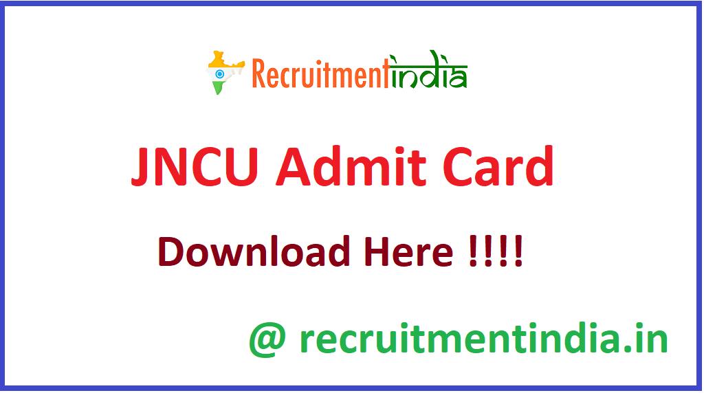 JNCU Admit Card
