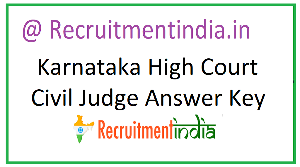 Karnataka High Court Civil Judge Answer Key