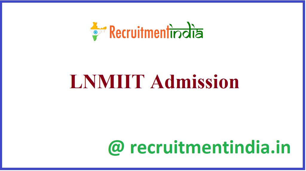 LNMIIT Admission