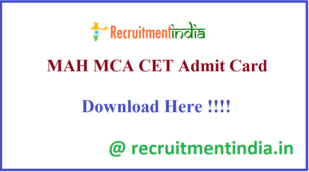 MAH MCA CET Admit Card
