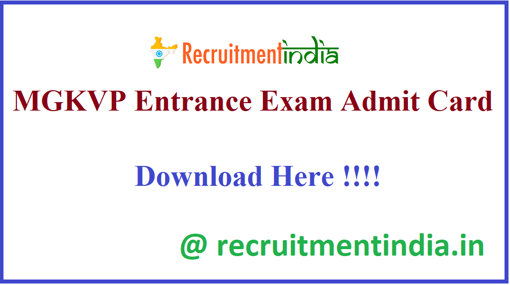 MGKVP Entrance Exam Admit Card