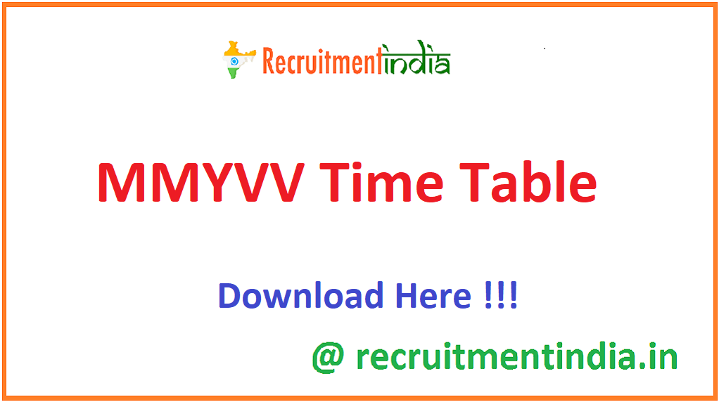 MMYVV Time Table