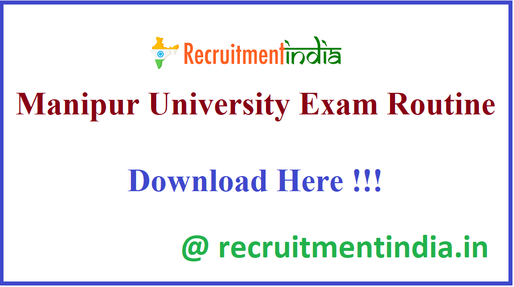 Manipur University Exam Routine