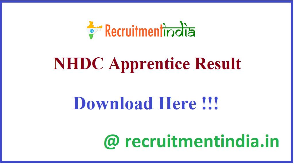 NHDC Apprentice Result