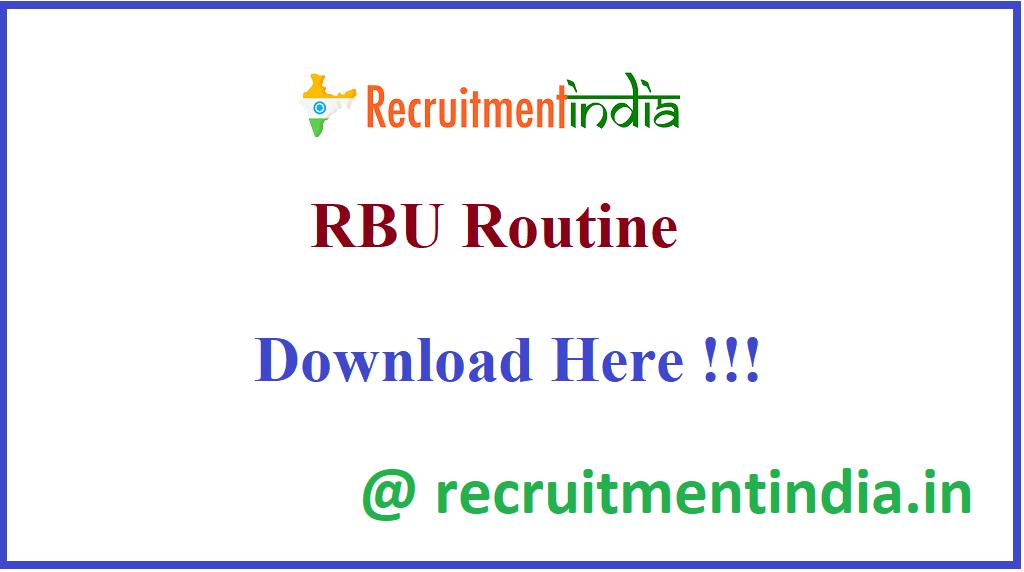 RBU Routine