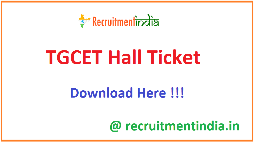 TGCET Hall Ticket