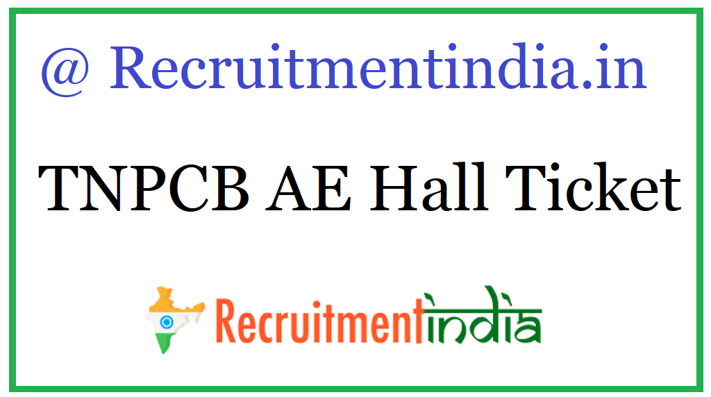 TNPCB AE Hall Ticket