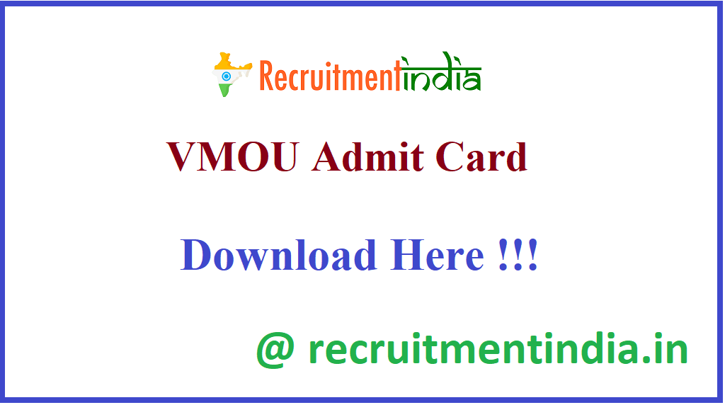 VMOU Admit Card