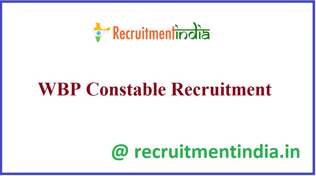 WBP Constable Recruitment