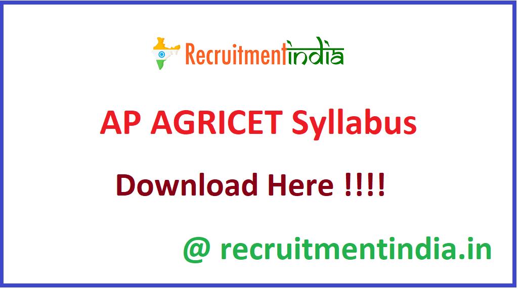 AP AGRICET Syllabus
