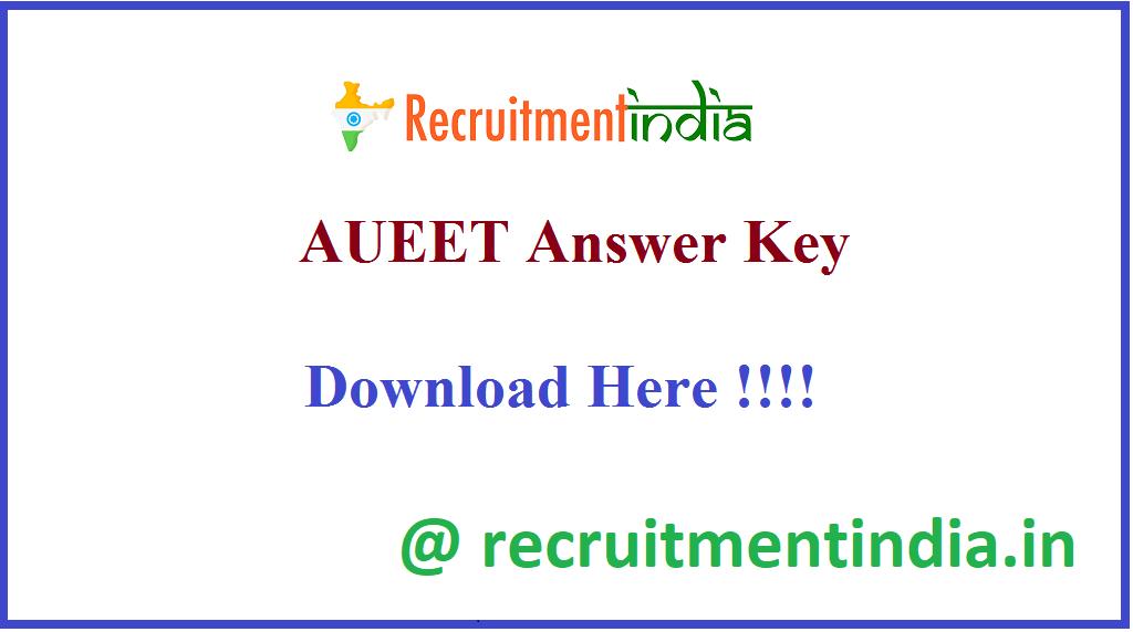 AUEET Answer Key