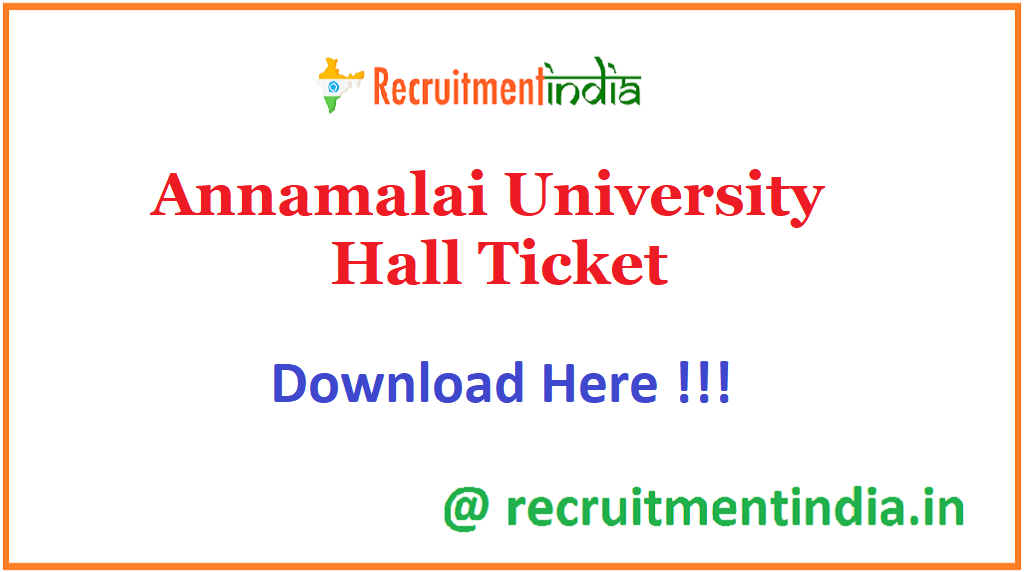 Annamalai University Hall Ticket