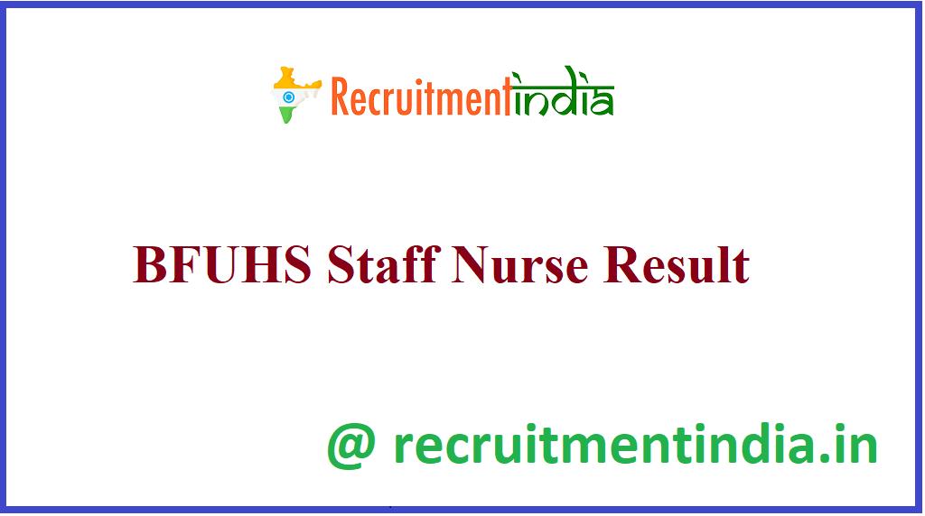 BFUHS Staff Nurse Result