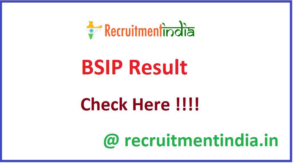 BSIP Result